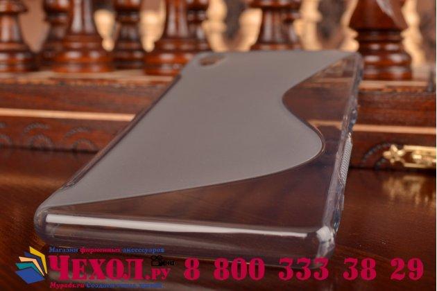 Ультра-тонкая полимерная из мягкого качественного силикона задняя панель-чехол-накладка для sony xperia z3 d6603/ z3 dual d6633 серая