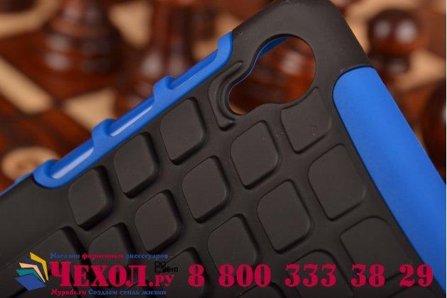Противоударный усиленный грязестойкий чехол-бампер-пенал для sony xperia z3 d6603/ z3 dual d6633 синий