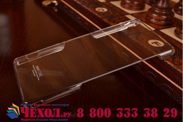 Ультра-тонкая пластиковая задняя панель-чехол-накладка для sony xperia z3 d6603/ z3 dual d6633 прозрачная