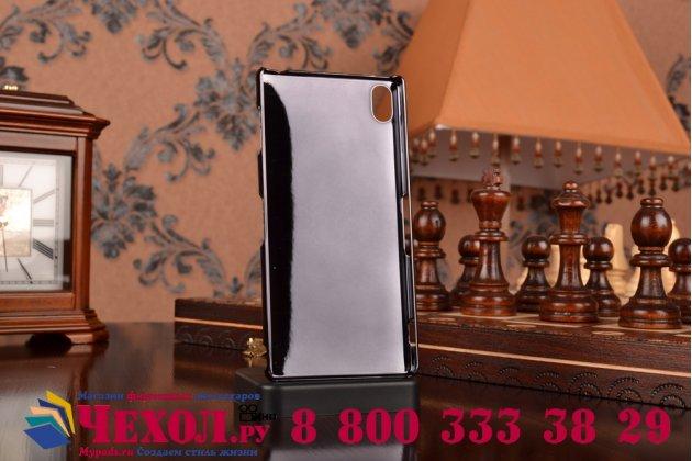 """Элитная задняя панель-крышка из тончайшего и прочного пластика для sony xperia z3 d6603/ z3 dual d6633 с матовой отделкой """"под карбон"""" черная"""