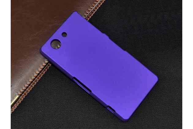Задняя панель-крышка-накладка из тончайшего и прочного пластика для sony xperia z3 compact d5803 фиолетовая