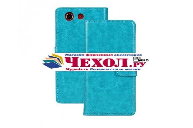 Чехол-книжка из качественной импортной кожи для sony xperia z3 compact d5803 бирюзовый