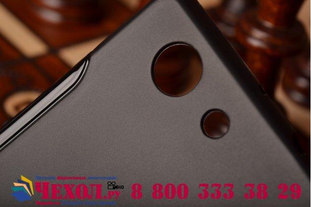 Ультра-тонкая полимерная из мягкого качественного силикона задняя панель-чехол-накладка для sony xperia z3 compact d5803 черная