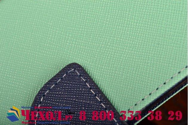 Чехол-подставка с визитницей кармашком для sony xperia z3 compact d5803 зелено-салатовый