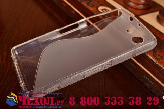Ультра-тонкая полимерная из мягкого качественного силикона задняя панель-чехол-накладка для sony xperia z3 compact d5803 серая
