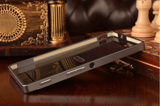 Металлическая задняя панель-крышка-накладка из тончайшего облегченного авиационного алюминия для sony xperia c3/c3 dual sim d2533 /d2502 /s55t/ s55u черная