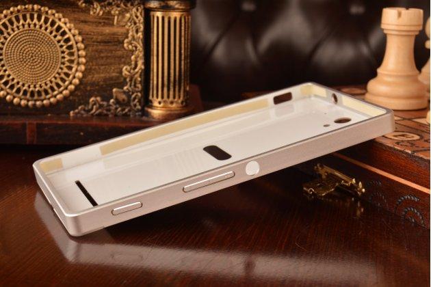 Металлическая задняя панель-крышка-накладка из тончайшего облегченного авиационного алюминия для sony xperia c3/c3 dual sim d2533 /d2502 /s55t/ s55u серебристая