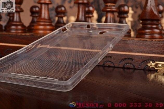 Ультра-тонкая силиконовая задняя панель-чехол-накладка для sony xperia c3/c3 dual sim d2533 /d2502 /s55t/ s55u белая
