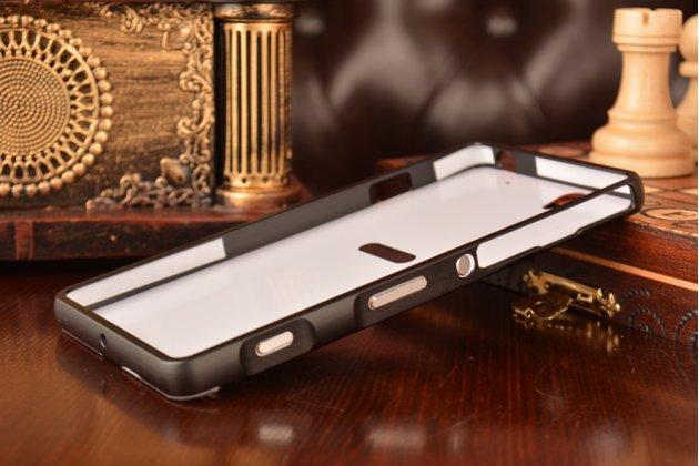 Металлическая задняя панель-крышка-накладка из тончайшего облегченного авиационного алюминия для sony xperia c4/ c4 dual e5303 / e5333 черная