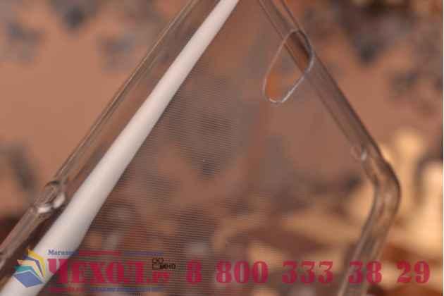 Ультра-тонкая полимерная из мягкого качественного силикона задняя панель-чехол-накладка для sony xperia c4/ c4 dual черная