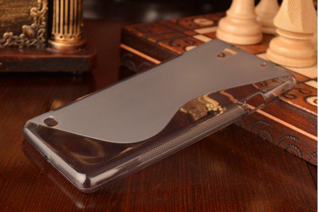 Ультра-тонкая полимерная из мягкого качественного силикона задняя панель-чехол-накладка для sony xperia c4/ c4 dual серая