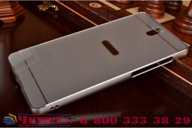 """Металлическая задняя панель-крышка-накладка из тончайшего облегченного авиационного алюминия для sony xperia c5 ultra / c5 ultra dual e5533 e5563/ t4 ultra 6.0"""" серебристая"""