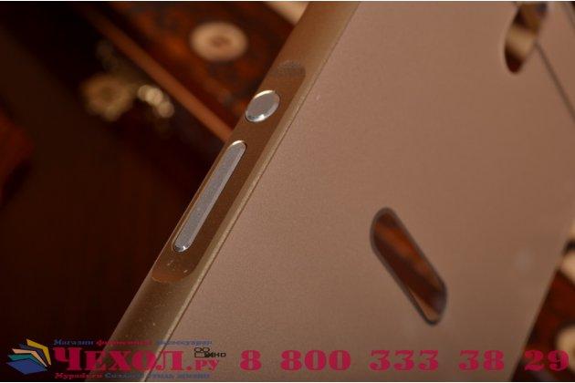 """Металлическая задняя панель-крышка-накладка из тончайшего облегченного авиационного алюминия для sony xperia c5 ultra / c5 ultra dual e5533 e5563/ t4 ultra 6.0"""" золотая"""