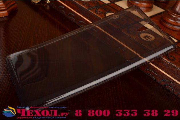 """Ультра-тонкая полимерная из мягкого качественного силикона задняя панель-чехол-накладка для sony xperia c5 ultra / c5 ultra dual e5533 e5563/ t4 ultra 6.0"""" серая"""