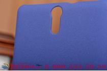 """Задняя панель-крышка-накладка для  sony xperia c5 ultra / c5 ultra dual e5533 e5563/ t4 ultra 6.0"""" из тончайшего и прочного пластика с нескользящим покрытием синяя"""