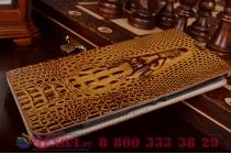 """Роскошный эксклюзивный чехол с объёмным 3d изображением кожи крокодила коричневый для sony xperia c5 ultra / c5 ultra dual e5533 e5563 6.0"""" . только в нашем магазине. количество ограничено"""