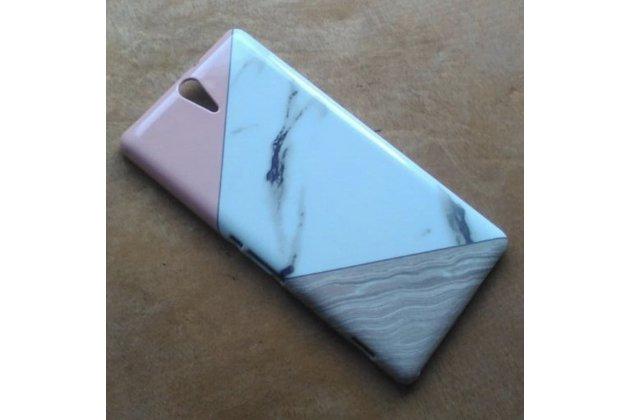 """Необычная уникальная полимерная мягкая задняя панель-чехол-накладка для sony xperia c5 ultra / c5 ultra dual e5533 e5563/ t4 ultra 6.0""""  """"тематика андроид в мятном шоколаде"""""""