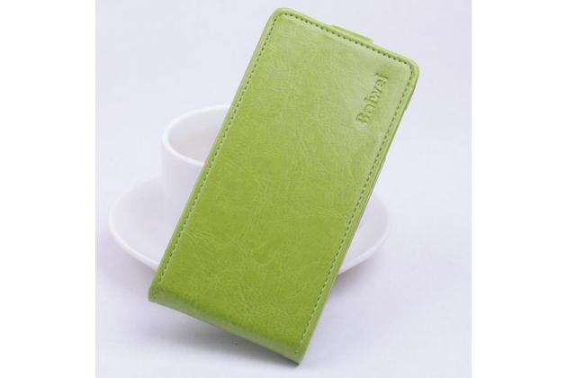 """Вертикальный откидной чехол-флип для sony xperia c5 ultra / c5 ultra dual e5533 e5563/ t4 ultra 6.0"""" зеленый кожаный """"prestige"""" италия"""