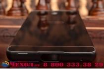 """Металлическая задняя панель-крышка-накладка из тончайшего облегченного авиационного алюминия для sony xperia c5 ultra / c5 ultra dual e5533 e5563/ t4 ultra 6.0"""" черная"""