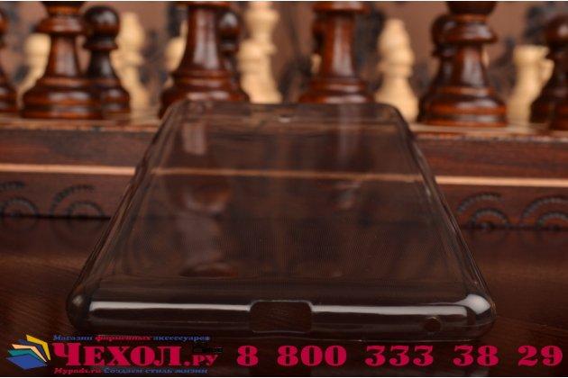 """Ультра-тонкая полимерная из мягкого качественного силикона задняя панель-чехол-накладка для sony xperia c5 ultra / c5 ultra dual e5533 e5563/ t4 ultra 6.0""""  черная"""
