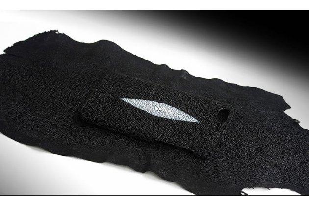 """Роскошная эксклюзивная накладка  из натуральной рыбьей кожи ската (с жемчужным блеском) чёрный для  sony xperia c6 / c6 ultra / xa ultra 6.0"""" (f3212 /f3216) только в нашем магазине. количество ограничено"""