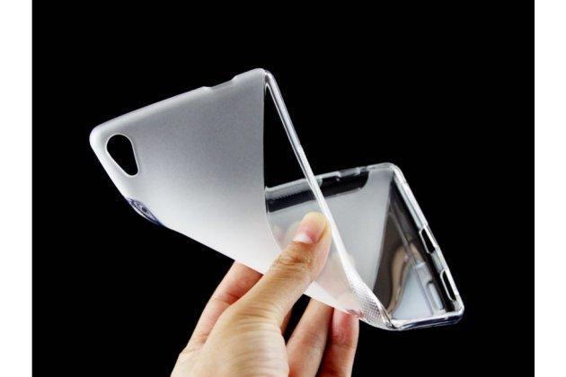 """Ультра-тонкая полимерная из мягкого качественного силикона задняя панель-чехол-накладка для sony xperia c6 / c6 ultra / xa ultra 6.0"""" (f3212 /f3216) белая"""