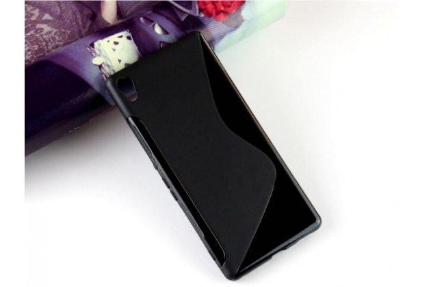 """Ультра-тонкая полимерная из мягкого качественного силикона задняя панель-чехол-накладка для sony xperia c6 / c6 ultra / xa ultra 6.0"""" (f3212 /f3216) черная"""