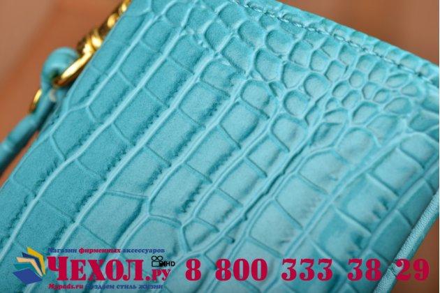 Роскошный эксклюзивный чехол-клатч/портмоне/сумочка/кошелек из лаковой кожи крокодила для телефона sony xperia e5. только в нашем магазине. количество ограничено