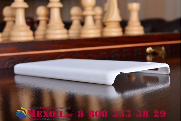 Задняя панель-крышка-накладка из тончайшего и прочного пластика для sony xperia e5 белая