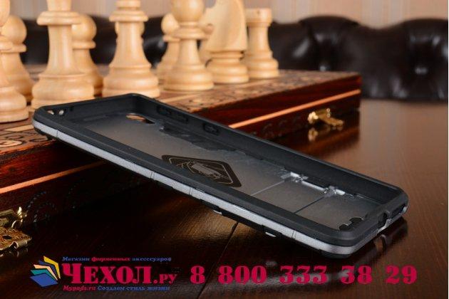 Противоударный усиленный ударопрочный чехол-бампер-пенал для sony xperia e5 серый