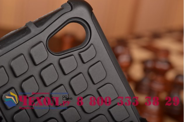 Противоударный усиленный грязестойкий чехол-бампер-пенал для sony xperia m4 aqua/aqua dual e2303/e2306/e2312/e2333 черный