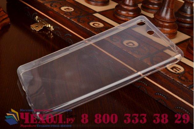Ультра-тонкая полимерная из мягкого качественного силикона задняя панель-чехол-накладка для sony xperia m5 e5603/ m5 dual e5633 белая