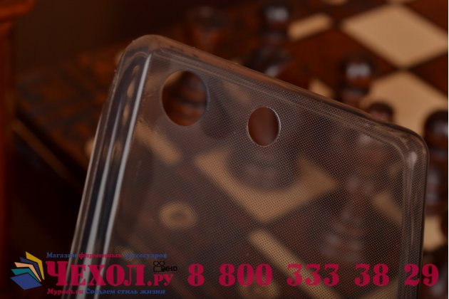 Ультра-тонкая полимерная из мягкого качественного силикона задняя панель-чехол-накладка для sony xperia m5 e5603/ m5 dual e5633  черная