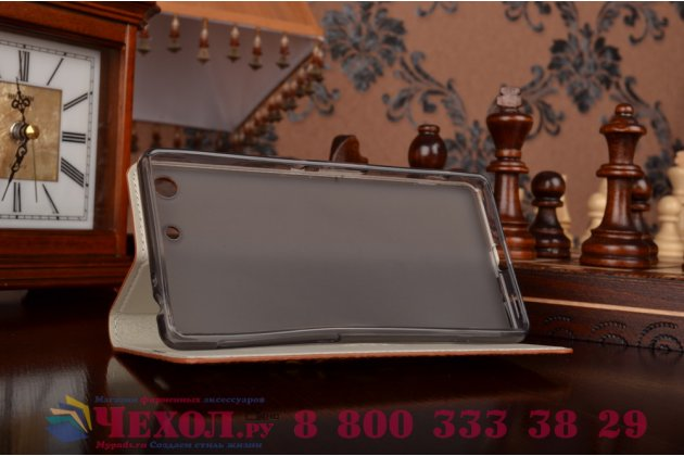 Роскошный эксклюзивный чехол с объёмным 3d изображением кожи крокодила коричневый для sony xperia m5 e5603/ m5 dual e5633 . только в нашем магазине. количество ограничено