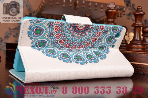 """Уникальный необычный чехол-книжка для sony xperia m5 e5603/ m5 dual e5633 """"тематика арабское кружево"""""""