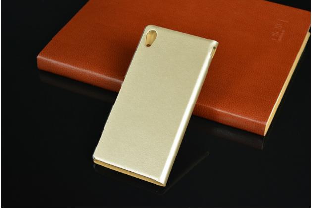 Чехол-книжка для sony xperia m5 e5603/ m5 dual e5633 золотой с окошком для входящих вызовов водоотталкивающий
