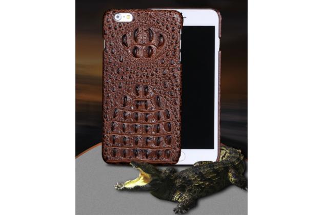 Элегантная экзотическая задняя панель-крышка с фактурной отделкой натуральной кожи крокодила кофейного цвета для sony xperia m5 e5603/ m5 dual e5633. только в нашем магазине. количество ограничено.