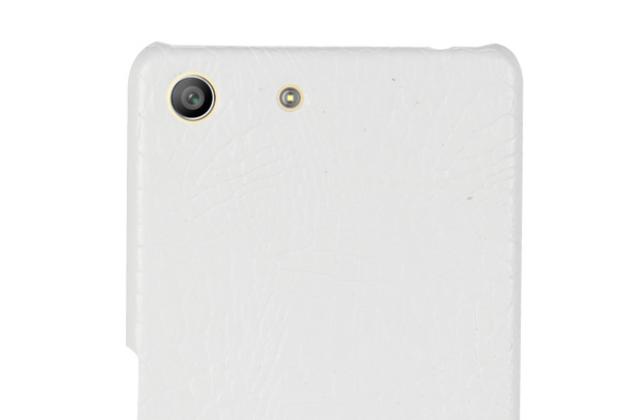 Роскошная элитная премиальная задняя панель-крышка на пластиковой основе обтянутая лаковой кожей крокодила  для sony xperia m5 e5603/ m5 dual e5633 белый