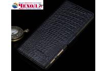 """Роскошный эксклюзивный чехол с фактурной прошивкой рельефа кожи крокодила и визитницей черный для sony xperia x performance/ x performance dual 5.0"""" (f8131/ f8132) . только в нашем магазине. количество ограничено"""