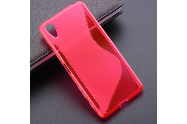 """Ультра-тонкая полимерная из мягкого качественного силикона задняя панель-чехол-накладка для sony xperia x performance/ x performance dual 5.0"""" (f8131/ f8132) розовая"""