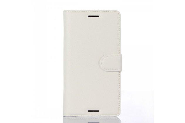 "Чехол-книжка для  sony xperia x performance/ x performance dual 5.0"" (f8131/ f8132)  с визитницей и мультиподставкой белый кожаный"