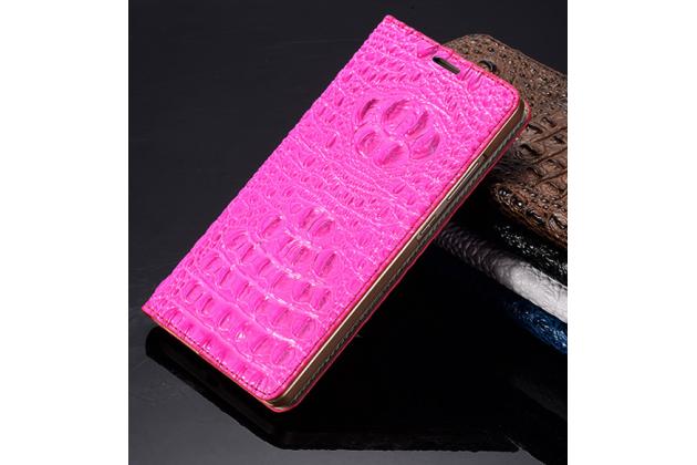 """Роскошный эксклюзивный чехол с фактурной прошивкой рельефа кожи крокодила и визитницей розовый для sony xperia x / x dual 5.0"""" (f5121 / f5122) . только в нашем магазине. количество ограничено"""
