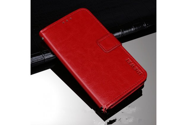 """Премиальный элитный чехол-книжка из качественной импортной кожи с мульти-подставкой и визитницей для sony xperia x / x dual 5.0"""" (f5121 / f5122)  красный"""