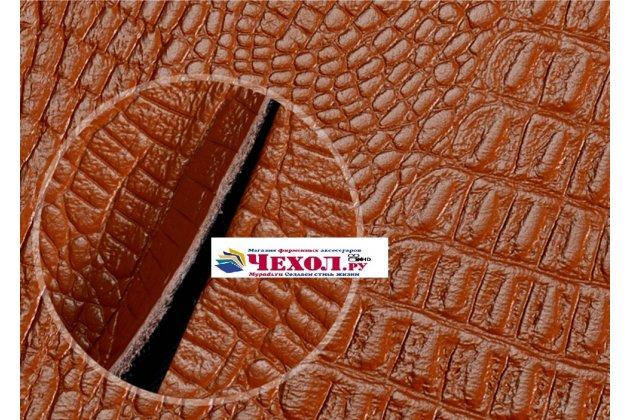 """Роскошный эксклюзивный чехол с фактурной прошивкой рельефа кожи крокодила и визитницей оранжевый для sony xperia x / x dual 5.0"""" (f5121 / f5122) . только в нашем магазине. количество ограничено"""