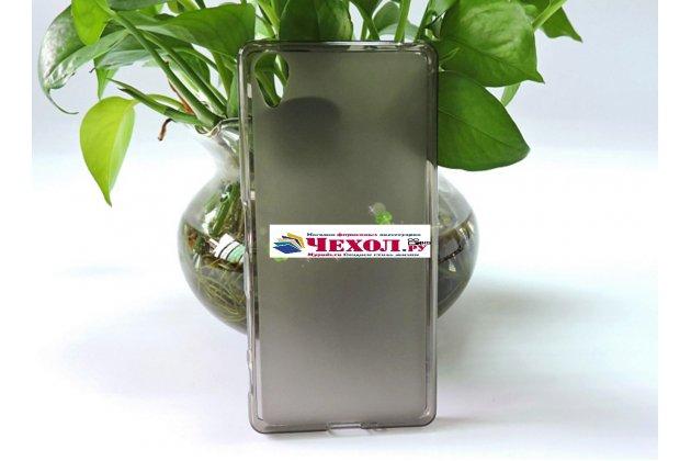 """Ультра-тонкая полимерная из мягкого качественного силикона задняя панель-чехол-накладка для sony xperia x / x dual 5.0"""" (f5121 / f5122) серая"""