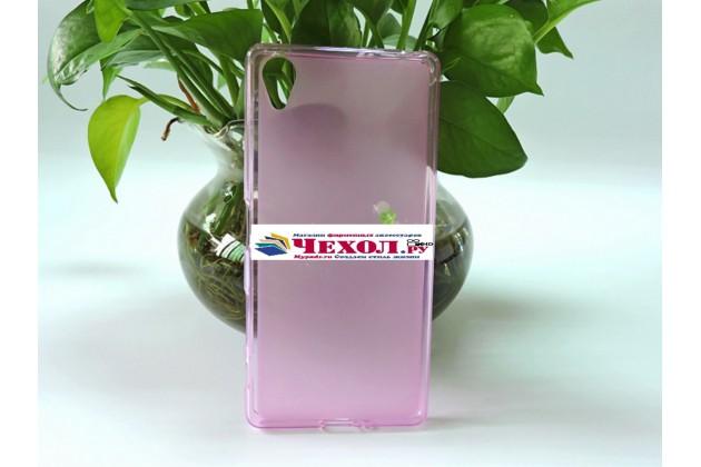 """Ультра-тонкая полимерная из мягкого качественного силикона задняя панель-чехол-накладка для sony xperia x / x dual 5.0"""" (f5121 / f5122) розовая"""