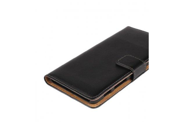 """Чехол-книжка из качественной импортной кожи с подставкой застёжкой и визитницей для sony xperia x / x dual 5.0"""" (f5121 / f5122) черный"""