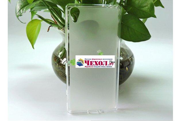"""Ультра-тонкая полимерная из мягкого качественного силикона задняя панель-чехол-накладка для sony xperia x / x dual 5.0"""" (f5121 / f5122) белая"""