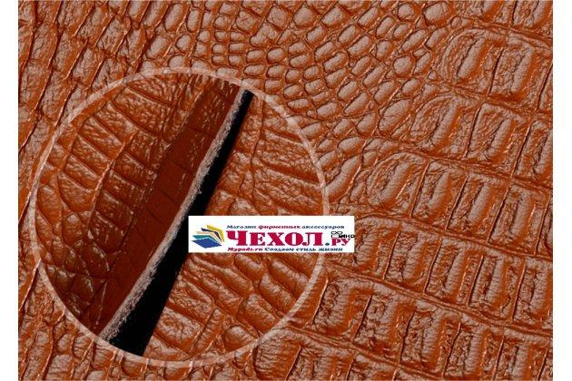 """Роскошный эксклюзивный чехол с фактурной прошивкой рельефа кожи крокодила и визитницей оранжевый для sony xperia xa / xa dual 5.0"""" (f3113/ f3112 / f3115 /e6533) . только в нашем магазине. количество ограничено"""