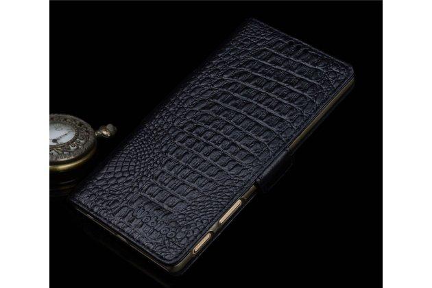 """Роскошный эксклюзивный чехол с фактурной прошивкой рельефа кожи крокодила и визитницей черный для sony xperia xa / xa dual 5.0"""" (f3113/ f3112 / f3115 /e6533). только в нашем магазине. количество ограничено"""